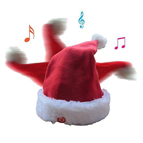 Tonsen Weihnachtsmütze: Singende und tanzende Nikolausmütze (Wackelnde...