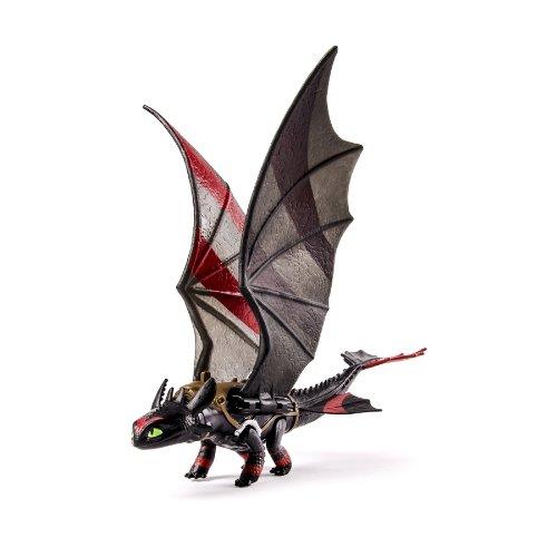 Dragons 2Toothless Pappaufsteller Standy-ca (Schwebung der Flügel) mit Streifen, Rennen-Figur Power