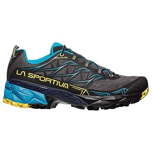 La Sportiva Akyra, Scarpe da Trail Running Uomo, Multicolore (Carbon/Tropic Blue 000), 43.5 EU