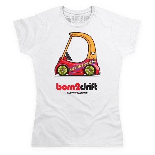 General Tee Born 2 Drift T-Shirt, Damen Wei