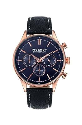 Viceroy Reloj Analógico para Hombre de Cuarzo con Correa en Cuero 40483-35 de Viceroy