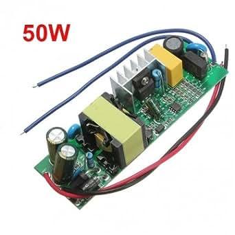50W Driver de LED d'alimentation à courant constant pour Projecteur 85-277V