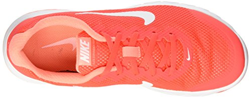 Nike Wmns Flex Experience Rn 4, Chaussures de Sport Femme Rosso (Brght Crmsn/Blanc-Atmc Pnk-Whi)