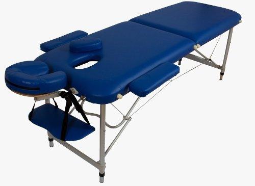 Lettino massaggio massaggi in alluminio pesa solo 10kg blu