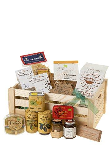 Italian Vegan Hamper - This Fabulous Vegan Hamper is a Feast of Delicious, Italian Vegan Products Presented in a Beautiful Wooden Crate.