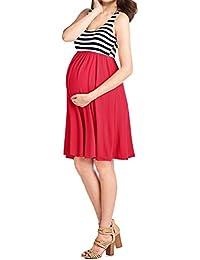 KOJOOIN Vestito Premaman Donna Taglie Forti Abito di maternità Elegante  Abito di Gravidanza 700428fdeba