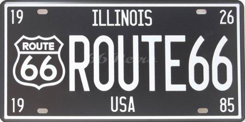 Illinois Route 66USA, automatisch Nummernschild für die Dekoration, geprägt Tag Anzahl, Größe 6
