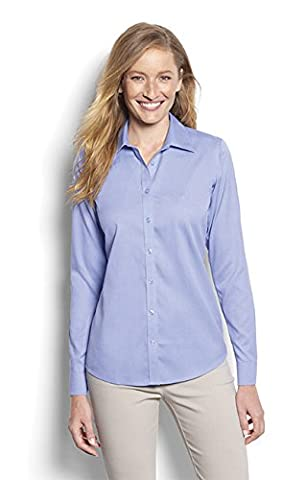 Orvis Wrinkle-free Cotton Pinpoint Oxford Shirt, Blue Wave,