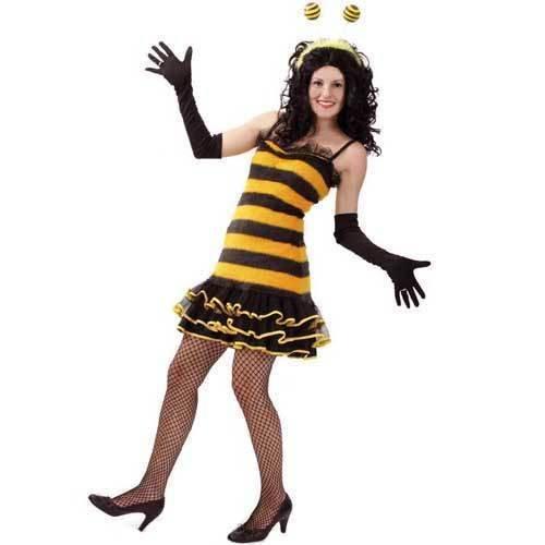 Sexy Marie Kostüm - Damen-Kostüm Sexy Biene, Kleid, Gr. 44