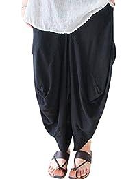 Youlee Donna Estate Primavera Gamba Larga Pantaloni Drop Crotch Pantaloni