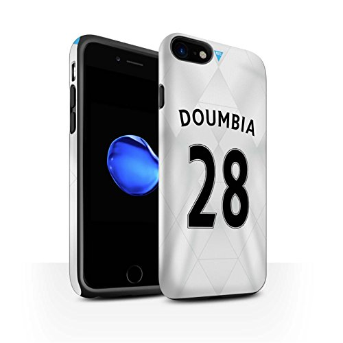 Offiziell Newcastle United FC Hülle / Matte Harten Stoßfest Case für Apple iPhone 7 / Saivet Muster / NUFC Trikot Away 15/16 Kollektion Doumbia