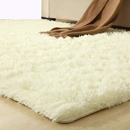 Über Living Room Coffee Table (Velvet living room coffee table carpet bedroom bedside bay window office full shop silk porch carpet customizable size-Beige white,200 * 250CM)