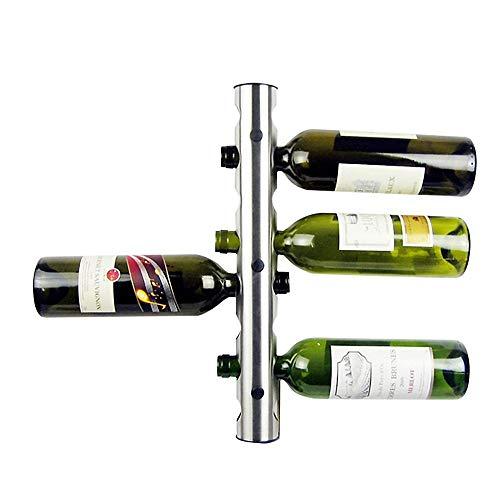 Wine rrack portabottiglie da vino da parete in acciaio inossidabile creativo a 8 fori in metallo portabottiglie da vino unico for la decorazione della casa bar