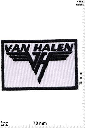 LipaLipaNa Van Halen - White -Hard-Rock-Band Aufnäher Besticktes Patch zum Aufbügeln Applique Souvenir Zubehör - Hard-rock-jacke