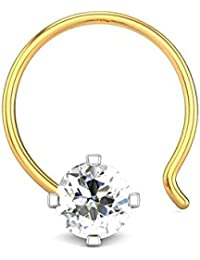 Candere By Kalyan Jewellers 18K (750) Yellow Gold and Diamond Nose Pin for Women