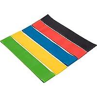 Cinturón de cadera elástico elástico de 5 piezas Cinturones de correa elásticos deportivos duraderos ajustables Cinturón de gimnasio Cintura pierna Cinturón de yoga antideslizante - 5 colores