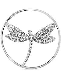 MY iMenso de la libélula imaginación insignia plateado circonios 24 mm 24-0992