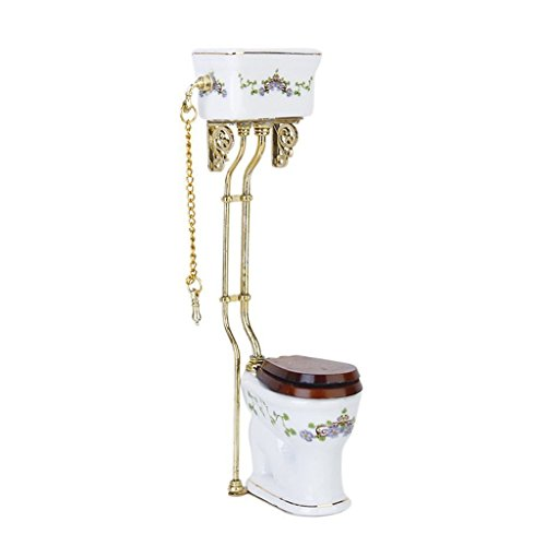 Visork Dolls House Toilet Miniat...