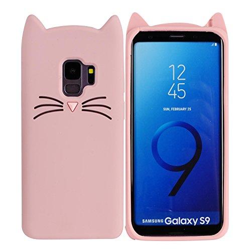 Galaxy S9Plus 15,7cm Fall, Phenix-Color 3D Cute Cartoon Soft Silikon Wimper Pferd Hello Kitty Gel Back Cover Case für Samsung Galaxy S9+ 15,7cm (2018) Fall AMP Prime, 03 - Hello Kitty Case Cover