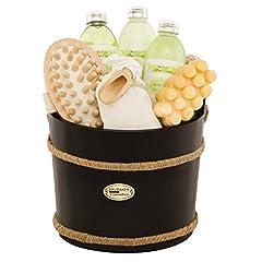 Idea Regalo - BRUBAKER Set da bagno Wellness Igiene personale SPA in Piccolo tino da 9 pezzi - Aloe vera