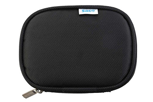 Saco Shock Proof External Hard Disk Case Compatible for Seagate Backup Plus Slim 2TB Portable External Hard Drive with Mobile Device Backup USB 3.0 (Black) - Black