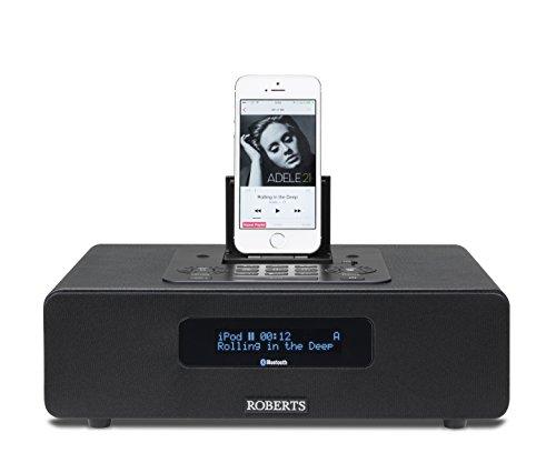 Roberts Radio Blutune65 (DAB+/FM/Bluetooth/Lightning-Dock) 2.1 Soundsystem mit Fernbedienung schwarz