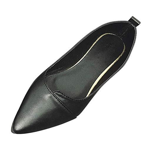 ♥ Loveso♥ Frauen Flache Schuhe Wies Einzelne Schuhe Einfarbig Lässig Schuhe Elegante Damenschuhe