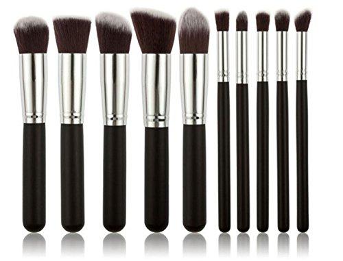 Ghope Kit Pinceau Maquillage Brosse Professionnel 10PCS Eyebrow Shadow Makeup Blush Fond Teint Cosmétiques Fondation AntiCerne