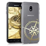 kwmobile Samsung Galaxy J3 (2017) DUOS Hülle - Handyhülle für Samsung Galaxy J3 (2017) DUOS - Handy Case in Gold Transparent