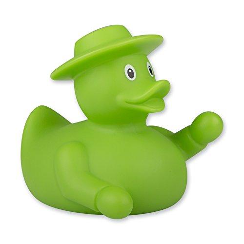 Preisvergleich Produktbild AMPELMANN Badeente Quietscheentchen Gummiente Plastikente Quietscheente grün