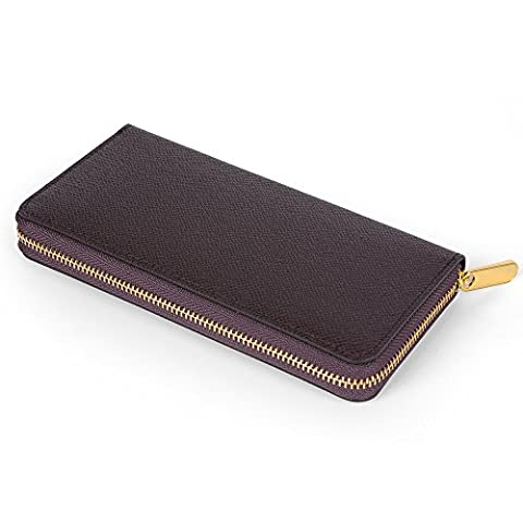 LOSMILE Mens Womens RFID Blocking Wallet Classic Clutch Synthetic Leather Long Wallet Card Holder Purse