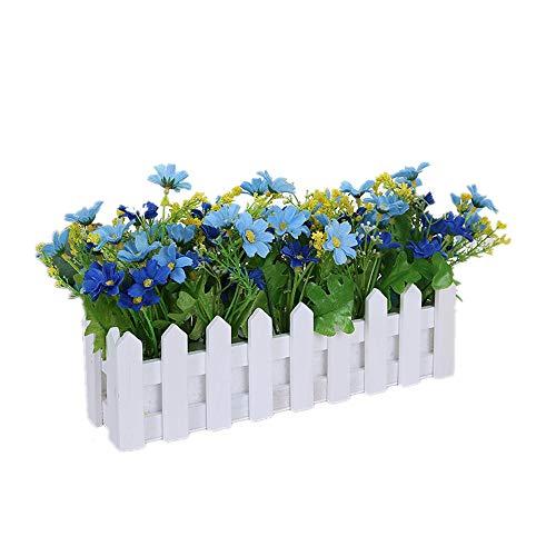 W.Jin Künstliche Blumen, Gefälschte Blumen Pflanzen für Hausgarten -