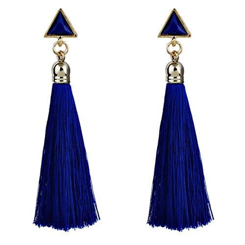 Moonuy Frauen Ohrringe 2018 Mode böhmischen Frauen Legierung ethnischen hängende Seil Quaste Ohrringe neue Schmuck Organizer für Damen aus China (Blau) - Ring Damen Tank