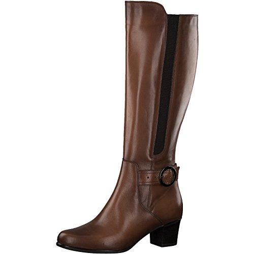 Tamaris Damen Stiefel 25549-21,Frauen Boots,Lederstiefel,Reißverschluss,Blockabsatz 5cm,Cuoio,EU ()