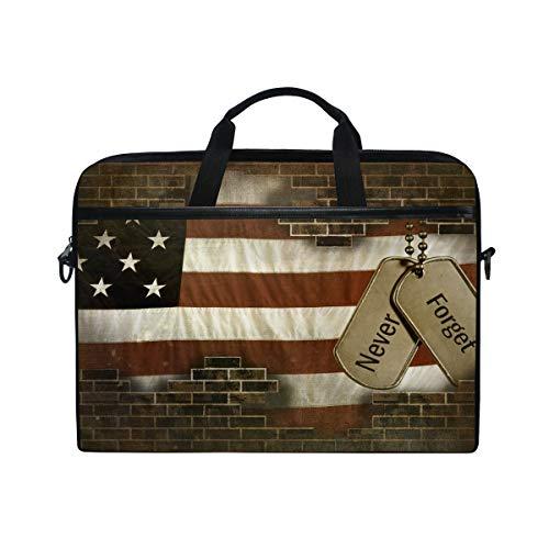 arken auf amerikanischer Flagge, Laptop, Umhängetasche, Patriotische USA Sterne und Streifen, Reisetasche für Herren und Damen, tragbare Tragetasche für Computer/Laptop ()