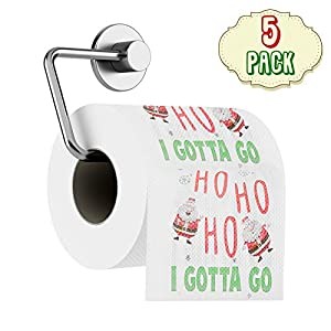 5 Weihnachten Toilettenpapiere – Nikolaus Design Druck, humorvoll & komisch