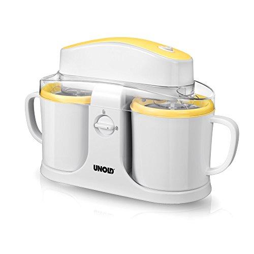 Unold 48850 Eismaschine Duo, Volumen für 2x 0,5 L