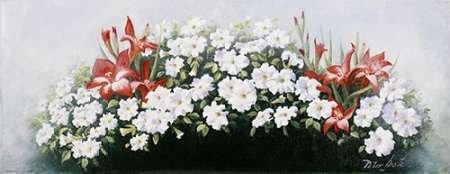 otz, Peter Kunstdruck auf PAPIER - Klein (58 x 23 cms ) (Blumen Bouqet)