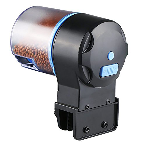 Yunt Automatisierte Fischfutterautomat Futterspender Aquarium Fisch Timer Verteiler Futterautomat AAA-Batterie Mit 2 STK Futter Box 100g & 50g