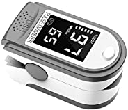 BAGGRA Portable Fingertip Oximeter L-ED Display Blood Pulse Rate Monitor for Family Travel (White)
