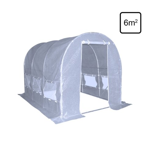 floristikvergleich.de Folien Gewächshaus Gartentunnel Folienzelt Treibhaus Gitterfolie 2 x 3 m