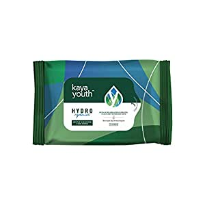 Kaya Youth Hydro Replenish Gentle Cleansing Wet Face Wipes with Aloe Vera, Remove Dirt, Oil, Pollutants,Developed by Dermatologists, Clean and Refreshed Skin, 10 Wipes
