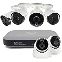 Swann 8 Channel Security System: 3MP Super HD DVR-4780 with 2TB HDD plus 2 x Dome & 4 x Bullet 3MP Thermal Sensing Cameras (Renewed)