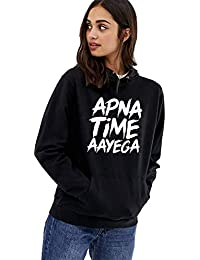 b96bd141123f Hustle Bustle Apna time aayega Hoodie Gully boy Gully Gang Hoodie for Women  Sweatshirt for Girls and Women Hoodie…