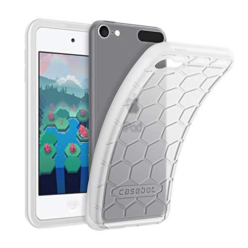 ibel mit iPod Touch 2019 / iPod Touch 6 - Leichte rutschfeste Stoßfeste Silikon Schutzhülle kinderfreundlich für iPod Touch 7, 6. und 5. Generation, transparenter Weiß ()