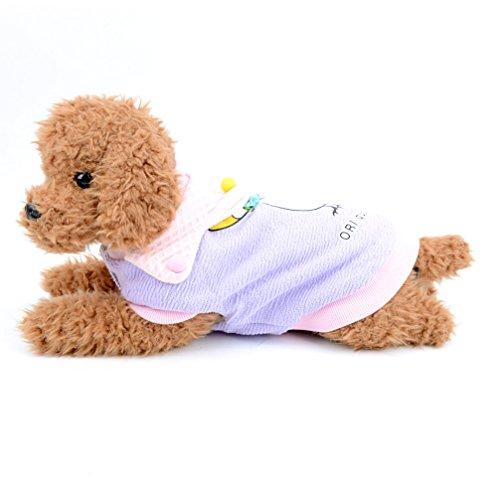 Katze niedlichen Fleece mit T-Shirts Swan Print Hund Winter Kleidung Doggy Apparel für kaltes Wetter Coat Puppy Sweatshirt (Hund Hawaiian Shirt)