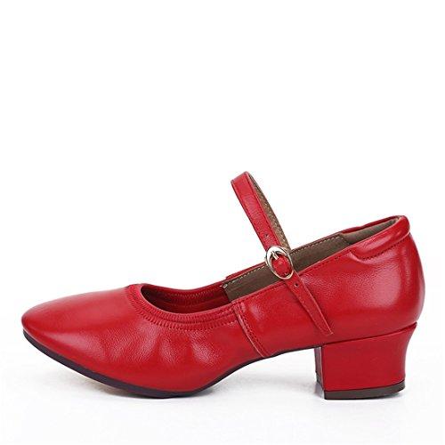 Wxmddn Danse Chaussures Chaussures De Danse Féminine Chaussures De Danse Rouge Pour Les Adultes Chaussures De Danse Rouge