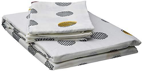 Fusion Spots Parure de lit 52% Polyester, 48% Coton, Ocre, Double