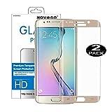 Novago Compatible avec Samsung Galaxy S6 Edge Pack de 2 Films en Verre trempé...