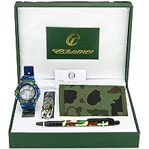Caja de Regalo Reloj de Niño Zagalejo Military Army Cartera Farolillo Bolìgrafo Azul Verde Navidad